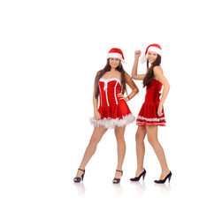 women in Christmas costume