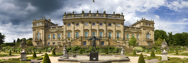Panoramic view Harewood House stately home