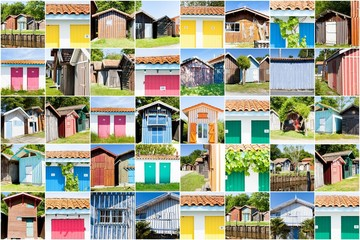 collage of colored fishermen's house