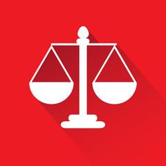 Justice scale symbol.vector