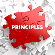 Principles - Concept on Red Puzzle. - 66200569