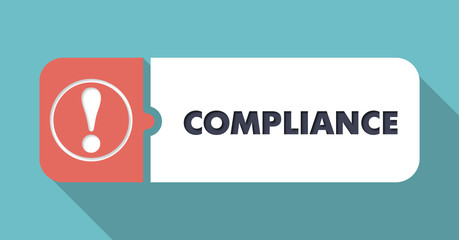 Compliance on Blue in Flat Design.
