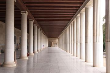 Athènes, la bibliothèque