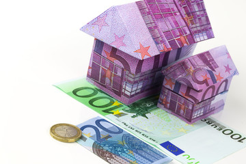 Maison en billet euros