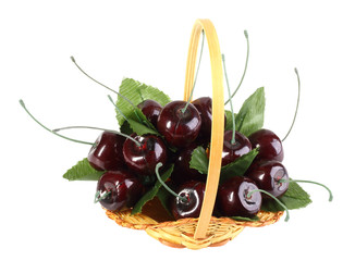 Heap of artificial cherries