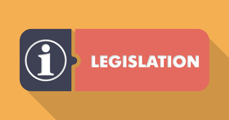 Legislation on Orange in Flat Design.