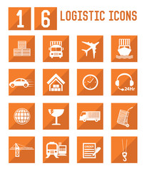 Logistic and storage icons,vector