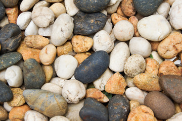 Mix of Natural Stones Background