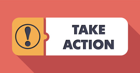Take Action on Scarlet in Flat Design.