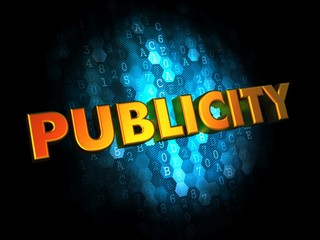 Publicity - Gold 3D Words.