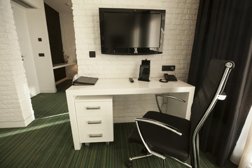 Interior of a modern hotel room