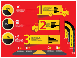 Logistics Infographics design,vector