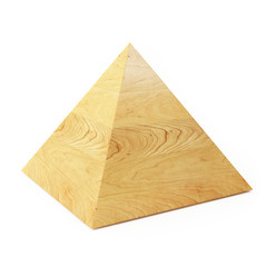 Wooden Pyramid Isolated on White background