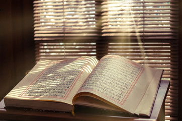 Quran - holy book of Islam in Turkish mosque
