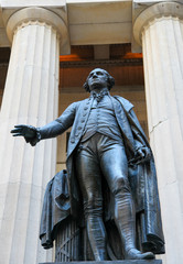 George Washington at the Federal Hall in Manhattan