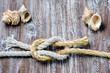marine rope tied Reef or Square Knot