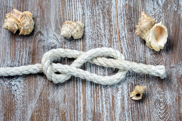 marine rope tied knot Figure Eight