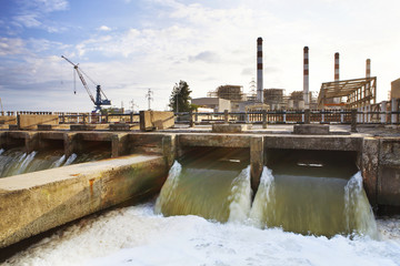 Thermal electric Power Plant beside river side location use for