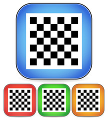 Chess board vector icon for chess, game, playing concepts - chec
