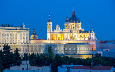 Madrid Cathedral and palace