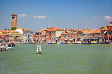 View on Murano canals, Italy