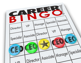 Career Bingo Chips CEO Chief Executive Officer Position