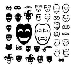 Masks icon collection
