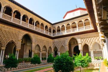 The Reales Alcazares in Sevilla, Spain