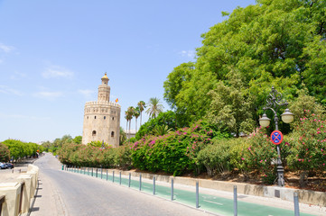The Torre del Oro in Sevilla, Spain