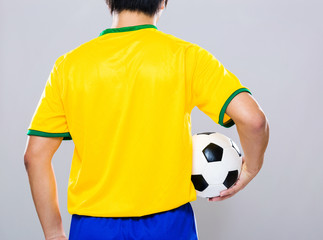 Back view of Brazil football player