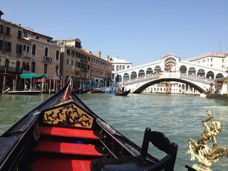Gondola tide in Venice, Italy
