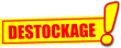 étiquette destockage