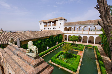Generalife at the Palacio de la Alhambra in Granada, Spain