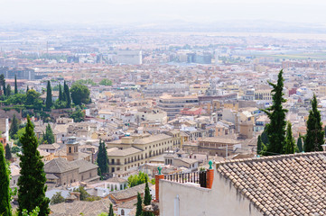 Old City of Granada in Spain