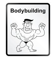Bodybuilder Information Sign