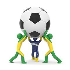 Sport concept. Ball with Brazilian flag