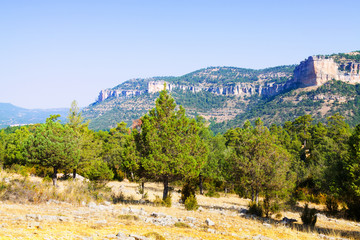 Mountains landscape of Serrania de Cuenca