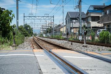 Rail way in Osaka, Japan