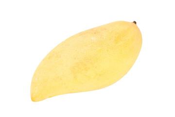 Fresh ripe mango of isolated.