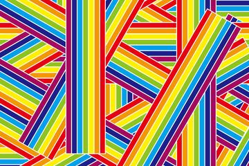 背景壁紙(虹, 虹線, 七色, レインボー)