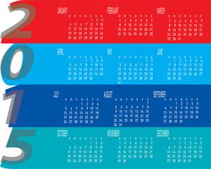 Colorful Year 2015 Calendar