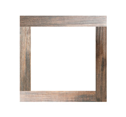 Wooden photo frames isolated.