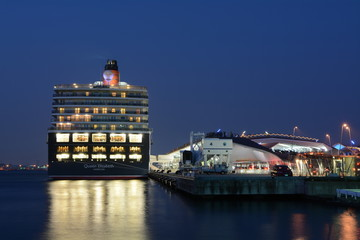 The Queen Elizabeth at Yokohama Japan back  side