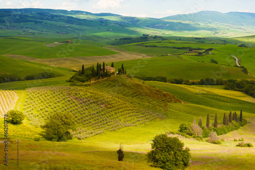 Early morning on Tuscany, countryside, Italy © Shchipkova Elena