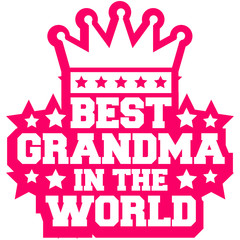 Best Grandma in the World Queen Logo