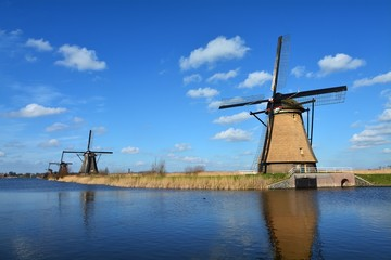 The Netherlands Kinderdijk Windmills