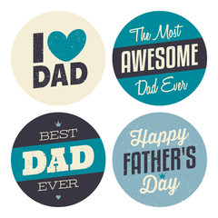 Father's Day Stickers Collection