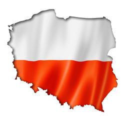 Polish flag map