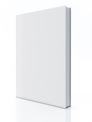 Blank book isolated over white