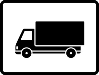 black delivery truck